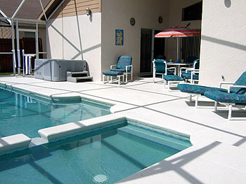 Swimming Pool, Children's Pool Hot Tub and Large Deck Area
