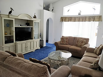 Comfortable Lounge with Digital Cable TV, Hi-Fi, DVD and a selection of DVD's