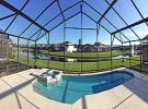 LUXURIOUS & WELCOMING  4 bed, 3 bath villa with private pool, jacuzzi and lake/fountain view. Secure gated community.