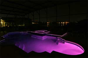 Pool at night Pink