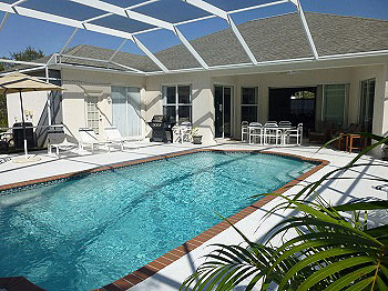 Large Pool and decking area.