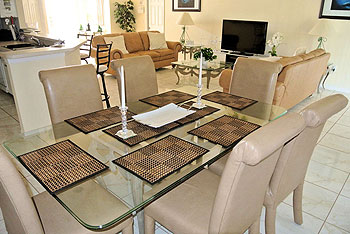 Open dining living area