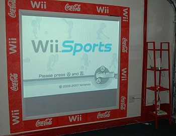 Fabulous games room with Nintendo Wii Wall