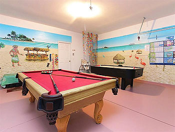 Beach theme games room