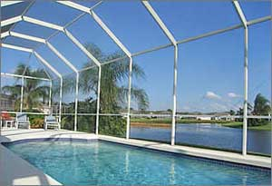 Electrically Heated Pool Area