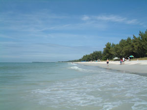 The beach at Sanibel