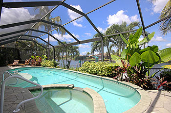 240ft wide Tropical Gulf Access Waterway with Private Boat Dock & Tiki Hut