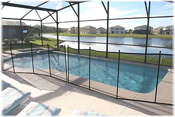 Pool & Deck with Lake View