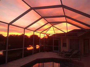 A stunning sunset!