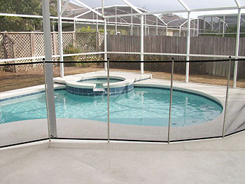 pool with security fence up