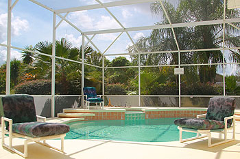 South Facing Pool overlooking Conservation Area