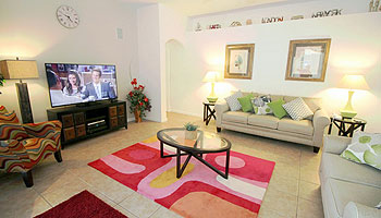 Great Room with 60'' flat screen TV