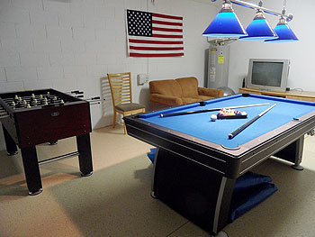 Well equipped games room