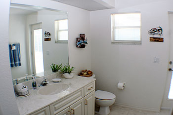 Bathroom connects to Lanai