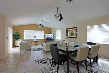 Dining Area to Family Room