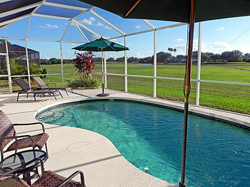 Swimming pool area with unobstructed view