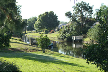 View down canal