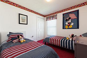 Mickey & Minnie twin Bedroom